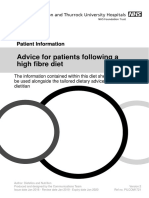 1721 Advice for Patients Following a High Fibre Diet V2