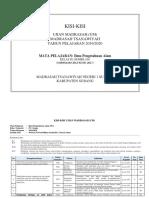 KISI-KISI UM IPA MTsN 1 SUBANG 2020