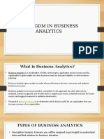Scope of MBA-PGDM in Business Analytics