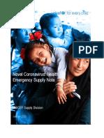Novel CoV HEPI Supply Note