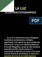 LA LUZ. EL ESTUDIO FOTOGRAFICO