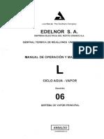 L SECCION 6 CICLO AGUAVAPOR SISTEMA DE VAPOR PRINCIPAL