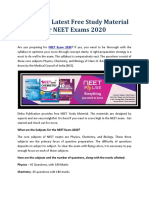 Download Latest Free Study Material for NEET Exams 2020