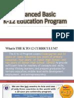 Enhanced basic k 12 Education Program