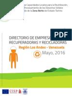 Directorio de empresas Recuperadoras y Recicladras del estado Táchira.pdf