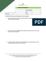 DMC Essay Questionnaire