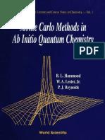 (Exposicion) Bl Hammond - Monte Carlo Methods In Ab Initio Quantum Chemistry-Wspc (1994).pdf