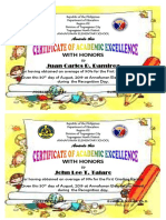 CERTIFICATE OF ACADEMIC EXCELLENCE new jo