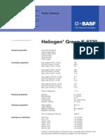 Heliogen Green K 8730 tds