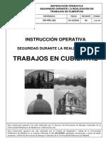INSTRUCCIÓN OPERATIVA TRABAJOS EN CUBIERTAS