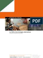 le CEA et les énergies alternatives avril 2010