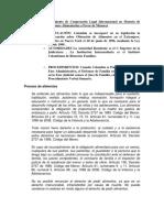 Procedimiento de Cooperación Legal Internacional en Asuntos de Obligaciones Alimentarias a Favor de Menores y Otros Miembros de la Familia Colombia