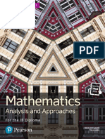 Mathematics SL - Analysis and Approaches - Pearson 2019