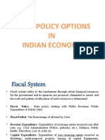 Fiscal Policy Options That Governments Have as a Means to Controlling the Economy.
