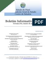 Janeiro 2020 Informativo 62 PGE-PI