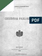 Chestionar folcloristic