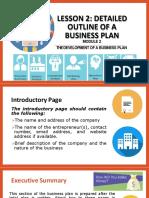 Lesson  detailedoutlineofabusinessplan