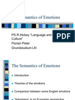 Linguistics of Emotions