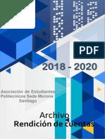 Archivo XIX - Rendicion de cuentas periodo de la Asociación de Estudiantes Politecncios.docx