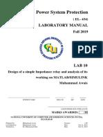 Lab 10-Impedance Relay