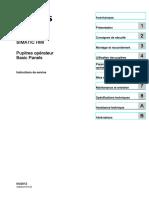 Hmi Basic Panels Operating Instructions Fr