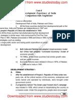 CBSE Class 11 Economics Development Experience of India_0
