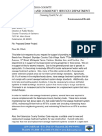 Kalamazoo County Health Department Letter