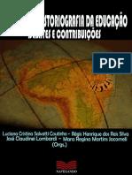 História e historiografia da educação - debates e contribuições
