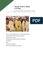 Reciben en Tlaxcala al nuevo obispo nombrado por el Papa