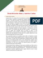 Desaceleracion China y America Latina