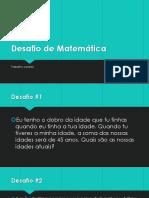 Desafio de Matemática (5 desafios).pptx