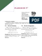 Rectas y planos en R5