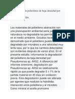 Degradación de polietileno de baja densidad por Pseudomonas