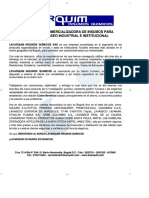 PRODUCTORA Y COMERCIALIZADORA DE INSUMO... E INSTITUCIONAL - PDF Descargar libre
