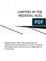 LAWYERS IN THE MEDEIVAL AGES