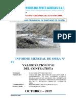 2º INFORME MENSUAL DE OBRA-VAL Nº 01. CONTRATISTA