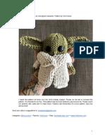 knitted baby yoda