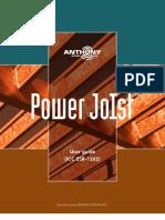 User Guide Power Joist