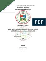 MANUAL DE CALIDAD QUESOS ANDRESITO.1.docx