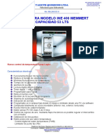 INCUBADORA MODELO INE 400 MARCA MEMMERT CAP. 53 LTS