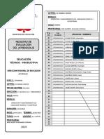 Registro De Evaluación 2019 - MODULO IV