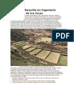 Tipón, la Maravilla en Ingeniería Hidráulica de los Incas