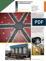 Katalysatorwechsel in Rohrreaktoren Entleeren Reinigen