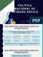 POLÍTICA NACIONAL DE ATENÇÃO BÁSICA novo