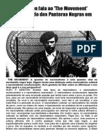 Huey Newton fala ao The Movement sobre o Partido dos Panteras Negras
