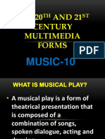 MUSIC 10- MULTIMEDIA FORMS