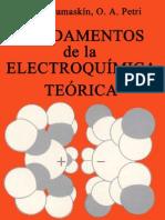 Fundamentos de La Electroquimica Teorica I