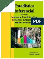 2. Estadística Inferencial Parte II Inferencia Estadística Una Población Estimación de Media y Proporción