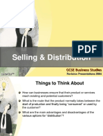 Selling and Distribution