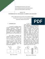 RELATÓRIO DE FISICO-QUÍMICA EXPERIMENTAL I - DETERMINAÇÃO DA CAPACIDADE CALORÍFICA DE UM SÓLIDO